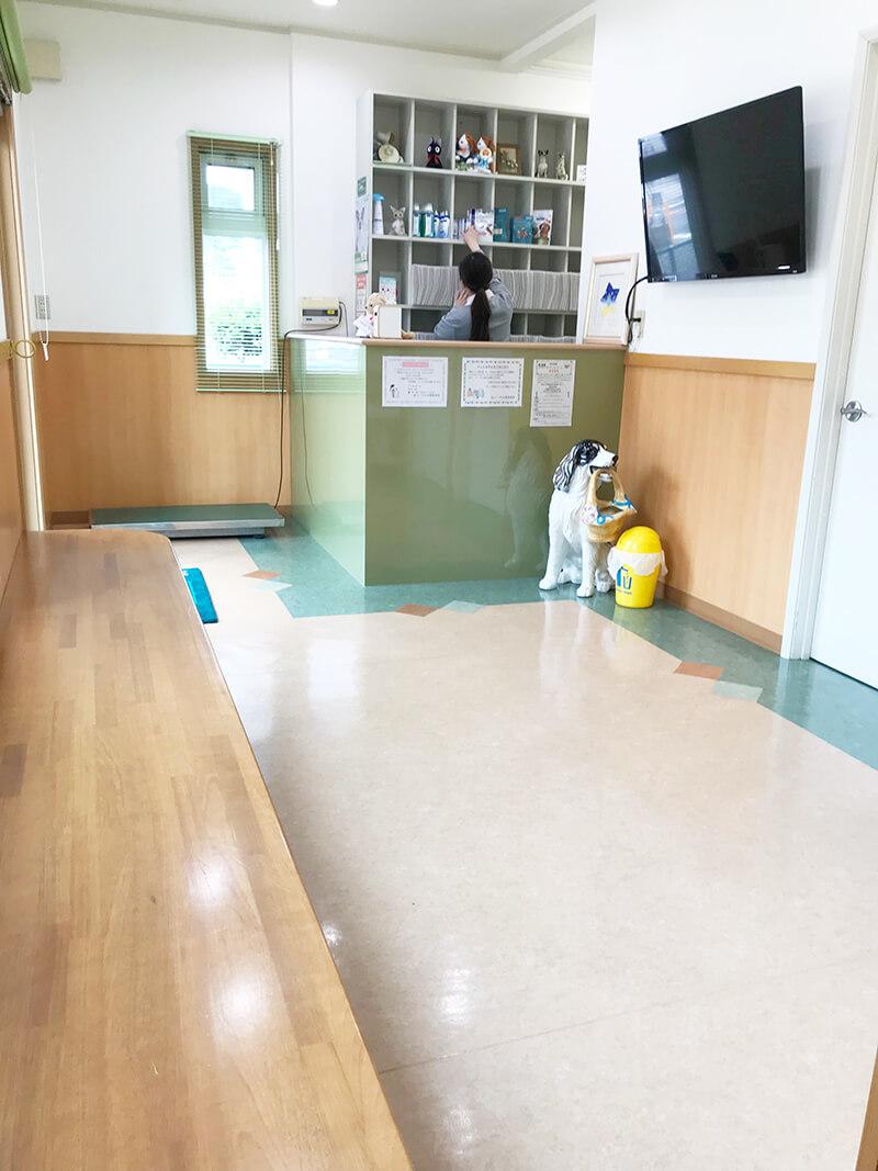メープル動物病院の待合室
